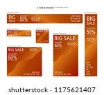 six web banners standard sizes... | Shutterstock .eps vector #1175621407