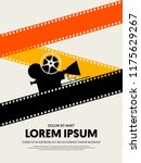 movie and film festival poster...   Shutterstock .eps vector #1175629267