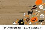 composition of halloween... | Shutterstock .eps vector #1175630584