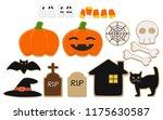 set of isolate halloween...   Shutterstock .eps vector #1175630587