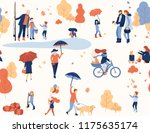 autumn seamless pattern with... | Shutterstock .eps vector #1175635174
