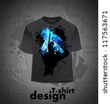 t shirt design. vector | Shutterstock .eps vector #117563671