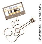 compact audio cassette green...   Shutterstock .eps vector #1175645347