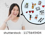 happy smiling beautiful asian... | Shutterstock . vector #1175645404