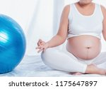 a pregnant woman was to care... | Shutterstock . vector #1175647897