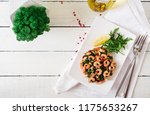 fried prawns or shrimps with... | Shutterstock . vector #1175653267