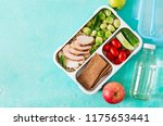 healthy green meal prep... | Shutterstock . vector #1175653441
