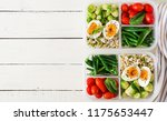 vegetarian meal prep containers ... | Shutterstock . vector #1175653447