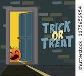 jack o lantern with trick or...   Shutterstock .eps vector #1175653954