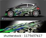 car decal design vector.... | Shutterstock .eps vector #1175657617