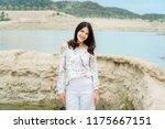 summer sunny lifestyle fashion... | Shutterstock . vector #1175667151