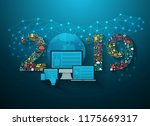 2019 new year business... | Shutterstock .eps vector #1175669317