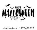 happy halloween calligraphy... | Shutterstock .eps vector #1175672317