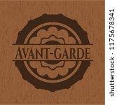 avant garde wooden emblem. retro | Shutterstock .eps vector #1175678341