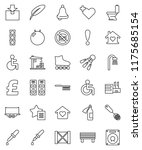 thin line vector icon set  ... | Shutterstock .eps vector #1175685154