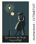 romantic couple in love. night  ... | Shutterstock .eps vector #1175687137