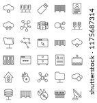 thin line vector icon set  ... | Shutterstock .eps vector #1175687314