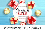 web banner for christmas sale.... | Shutterstock .eps vector #1175690671