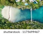 parsley bay beach and park with ... | Shutterstock . vector #1175699467