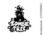 zombie party typography design... | Shutterstock .eps vector #1175700967