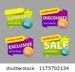 the set of sale banner template ... | Shutterstock .eps vector #1175702134
