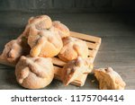 traditional mexican bread of... | Shutterstock . vector #1175704414