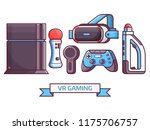 augmented reality and virtual... | Shutterstock .eps vector #1175706757