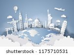 illustration of world tourism... | Shutterstock .eps vector #1175710531