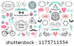vector hand drawn vintage... | Shutterstock .eps vector #1175711554