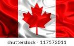 waving fabric flag of canada | Shutterstock . vector #117572011