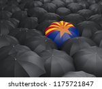 arizona state flag on umbrella. ... | Shutterstock . vector #1175721847