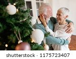 elderly couple decorating a... | Shutterstock . vector #1175723407