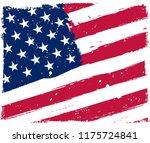 us flag.american flag in grunge ... | Shutterstock .eps vector #1175724841