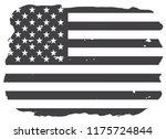 us flag.american flag in grunge ... | Shutterstock .eps vector #1175724844