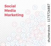 social media icons. social... | Shutterstock .eps vector #1175726887