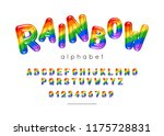 rainbow font. kids type with... | Shutterstock .eps vector #1175728831