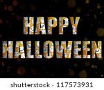 halloween letters with ghosts | Shutterstock . vector #117573931