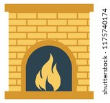 room stove  heating stove... | Shutterstock .eps vector #1175740174
