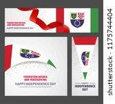 happy bosnia and herzegovina...   Shutterstock .eps vector #1175744404