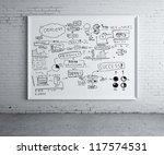 business scheme on poster in... | Shutterstock . vector #117574531