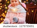 christmas portrait of happy... | Shutterstock . vector #1175755051