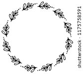 hand drawn wreath made in... | Shutterstock .eps vector #1175758591