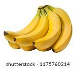 a bundle of yellow bananas on... | Shutterstock . vector #1175760214