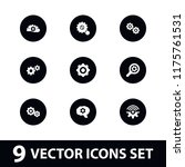 cogwheel icon. collection of 9... | Shutterstock .eps vector #1175761531