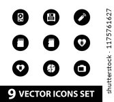memory icon. collection of 9... | Shutterstock .eps vector #1175761627