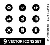 yes icon. collection of 9 yes... | Shutterstock .eps vector #1175763451
