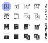 receipt icon set. black vector... | Shutterstock .eps vector #1175766457