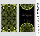 card with mandala design. | Shutterstock .eps vector #1175770057