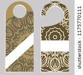 set of door hangers isolated on ...   Shutterstock .eps vector #1175770111