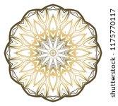 round pattern flower mandala.... | Shutterstock .eps vector #1175770117
